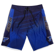 KLEW NHL St. Louis Blues Gradient Board Shorts, Medium, Blue