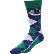 For Bare Feet Men's NHL Argyle Lineup Crew Dress Socks-One Size Fits Most