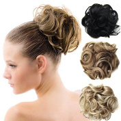 Beauty Wig World BUN Up Do Hair Piece Hair Ribbon Ponytail Extensions Draw String Scrunchy Scrunchie Curly or Messy Different Colours