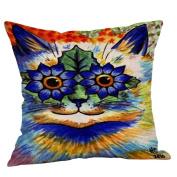 Cotton Linen Multicolor Square Pillow Case for Sofa 50cm X 50cm /60cm X 60cm