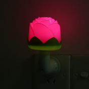 0.5W Plug in LED Night Light Lamp with Sensor Soft Brightness for Kids Baby Nursery Bedroom