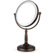 Makeup Mirror, 7X Lighted Magnifying Double Side Cosmetic , Battery and AC