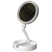 Makeup Mirror, LED Lighted Folding Vanity & Travel Mirror - 12x Magnification