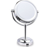 Makeup Mirror, Double-Sided LED Lighted Vanity Mirrors with 3x Polished