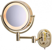 Makeup Mirror, Wall Bright Brass Magnifying Halo Light Beauty Bathroom