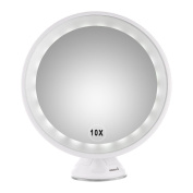 Makeup Mirror, 10X Magnifying LED Lighted Vanity Mirror Makeup Countertop Bathroom Use
