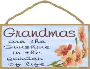 Dogwood Grandmas Are The Sunshine In The Garden Of Life SIGN Plaque 13cm x 25cm