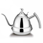 HAIZI New Practical 1.2L Stainless Steel Teapot Tea Pot Coffee With Tea Leaf Filter Infuser For Kitchen Home Tools