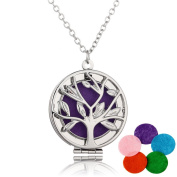 Tree of Life Aromatherapy Essential Oil Diffuser Pendant Necklace Family Perfume Locket Jewellery