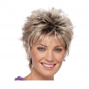 AISI HAIR Black and Blonde Hair Ombre Short African American Wigs Heat Resistant Synthetic Wigs