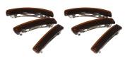 Classic Brown Hair Barrette - Set of Six