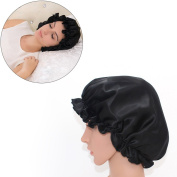 Hisight Fashionista Natural Silk Sleep Night Cap Head Cover Bonnet Hat for For Curly Springy Hair - Wake Up Perfect Daily Head Cover Bonnet for Hair Beauty