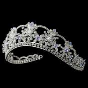 Nicole Crystal Light Blue & Amethyst Wedding Bridal Tiara