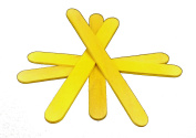 "50 114mm (4.5"") Yellow Coloured Wooden Lolly Sticks - Packed by the CandyRushTM Charity - for Ice or Cake Pops & Kids Crafts Models"