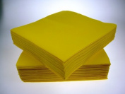 Pack of 50 Luxury YELLOW Airlaid Napkins - Linen Feel