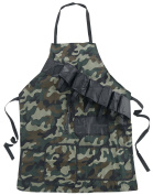 Out of the Blue Camouflage Barbecue Apron With Attached Bottle Opener