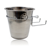 Stainless Steel Wine and Champagne Bucket with Holder