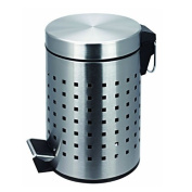 Sabichi Square Pedal Bin, Stainless-Steel, Silver, 3 Litre