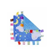 J & C Family Owned Blue Bedtime Night Sky Style Super Soft Lovey Baby Blanket