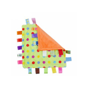 J & C Family Owned Multi Colour Polka Dot Taggie Style Super Soft Lovey Baby Blanket