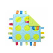 J & C Family Owned Lime Green Polka Dots Taggie Style Super Soft Lovey Baby Blanket
