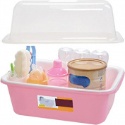 ZZ Lighting Creative Baby Feeding Bottle Organiser Baby Tableware Box with Dustproof Cover Drying Rack for Kitchen Use