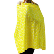 Nursing Cover Breastfeeding Scarf 100% Cotton Breastfeeding Apron with Portable Storage Bag for Folding and Collection