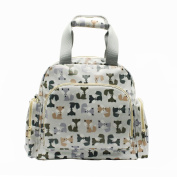 IHONEY Nappy Bag - Plus Matching Baby Changing Pad - Foxes/Penguin Design Backpack and Shoulder Bag Waterproof Fabric Unisex Baby Bag
