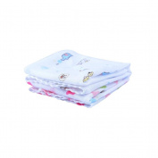 3Pcs Baby Infant Soft Cotton Washcloth Towel Wipe Cloth Random Colour