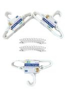 Delta White Nursery Hangers And Hanger Clip Bundle, 30 Hangers, 24 Clips