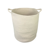 XXL Jumbo Toy Storage Cotton Rope Basket Hamper with invisible handles 50cm 43cm 30cm