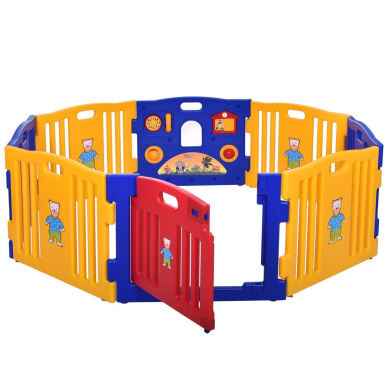 Baby Playpen Kids Safety Play Centre Yard Home Indoor Outdoor New Pen By Scream Store (8 Panel)