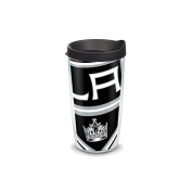 "Tervis 2807350cm NHL La Kings Colossal"" Tumbler with Black Lid, Wrap, 470ml, Clear"