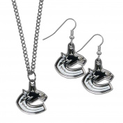 NHL Vancouver Canucks Dangle Earrings & Chain Necklace Set
