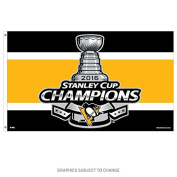 Pittsburgh Penguins Champions Official NHL 2016 Stanley Cup Flag 3x5 Deluxe Banner Champs Wincraft 646439