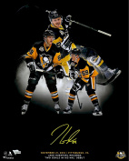 Jake Guentzel Pittsburgh Penguins Autographed 41cm x 50cm Two-Goal NHL Debut Highlight Photograph - Limited Edition of 59 - Fanatics Authentic Certified