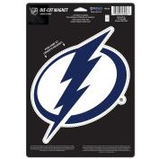 NHL Tampa Bay Lightning 88785015 Die Cut Logo Magnet, Small, Black