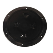Beckson DP80-B Black 8 Smooth Centre Screw-Out Deck Plate Marine RV Boating Accessories