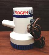 Marine Boat 700 GPH ABS Manual Bilge Pump 12V Straight hose Adaptor 1.9cm Hose
