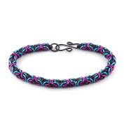 Weave Got Maille Purple Flirt Byzantine Chain Maille Bracelet Kit