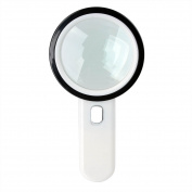 """12 LED Lighted Magnifier 20X Handheld Reading Loupe Magnifier 105mm/4.1"""", Battery Powered Illuminated Magnifying Glass for Reading,Inspection,Coins,Rock,Science, Craft and Hobby"""
