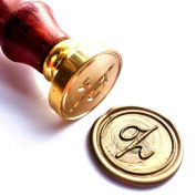 Vooseyhome Initial Letter Alphabet Z Wax Seal Stamp with Rosewood Handle
