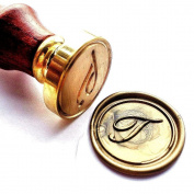 Vooseyhome Initial Letter Alphabet T Wax Seal Stamp with Rosewood Handle