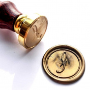 Vooseyhome Initial Letter Alphabet S Wax Seal Stamp with Rosewood Handle