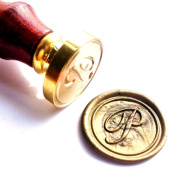 Vooseyhome Initial Letter Alphabet P Wax Seal Stamp with Rosewood Handle