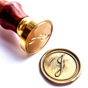 Vooseyhome Initial Letter Alphabet J Wax Seal Stamp with Rosewood Handle