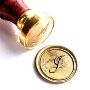 Vooseyhome Initial Letter Alphabet I Wax Seal Stamp with Rosewood Handle