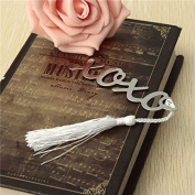 Silver Mental Bookmark With A Tassel Crafting Label Book Mark Party Favour Gifts by Dom