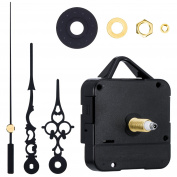 Mudder High Torque Clock Replacement Movement, 1/ 5.1cm Maximum Dial Thickness, 9/ 25cm Total Shaft Length