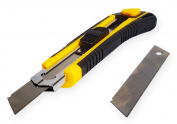 BAZIC Heavy Duty Self Loading Cutter with Grip With 8 Replacement Blades. Plus . 1 Hand Wipes (Pocket Size).